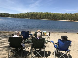 Walden Pond in the Springtime