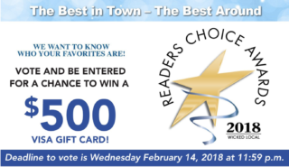 Time to Vote for 2018 Wicked Local Reader's Choice Awards